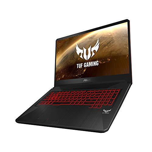 "ASUS TUF Gaming FX705GD-EW106 - Portátil Gaming de 17.3"" FHD (Intel Core i7-8750H, 16 GB RAM, 1 TB HDD + 256GB SSD, NVIDIA GeForce GTX1050 4 GB, Sin Sistema operativo) Negro - Teclado QWERTY Español 5"