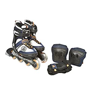 K2 SPORTS Junior  Merlin Skates with Elbow and Wrist Pads (4-8)