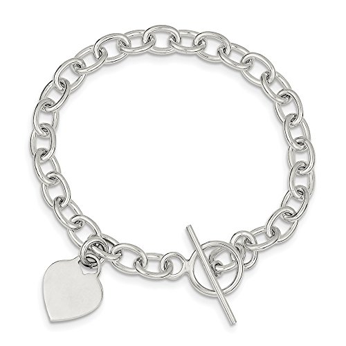 Gold Dangling Heart Bracelet - 925 Sterling Silver Dangling Heart Charm Bracelet 7.25 Inch W/charm Fine Jewelry Gifts For Women For Her