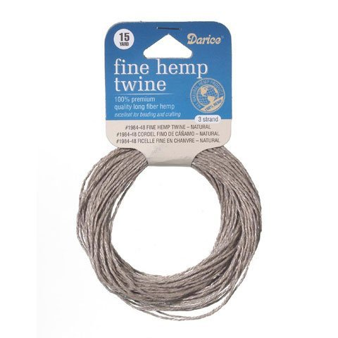 Bulk Buy: Darice DIY Crafts Hemp Cord 3 Strand Fine Natural