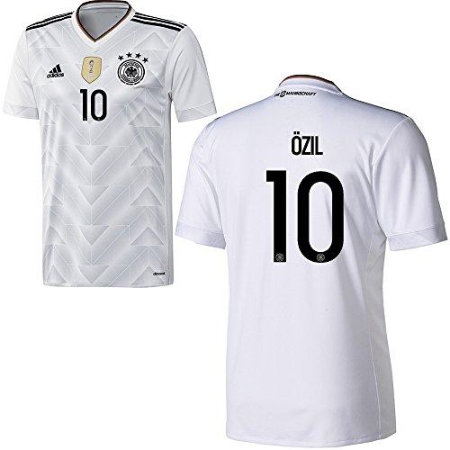 Adidas DFB Deutschland Fussball Trikot Home Herren 2017 2018 Mesut Özil 10 weiß schwarz Größe M