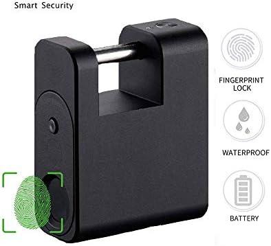 GXWLWXMS 指紋南京錠、USB充電式生体認証セキュリティロックスーツケースバックパックジムロッカーに適した防水電子ロック