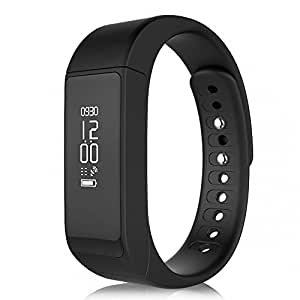 Fitness Tracker, i5 Plus Bluetooth Smart Bracelet Sports Pedometer Waterproof Smart Watch Activity Tracker Sleep Calorie Monitor for Android or iOS Phone (Black, one Size fit for All)