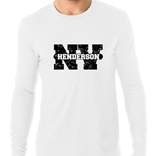 (Hollywood Thread Henderson, Nevada NV Classic City State Sign Men's Long Sleeve)