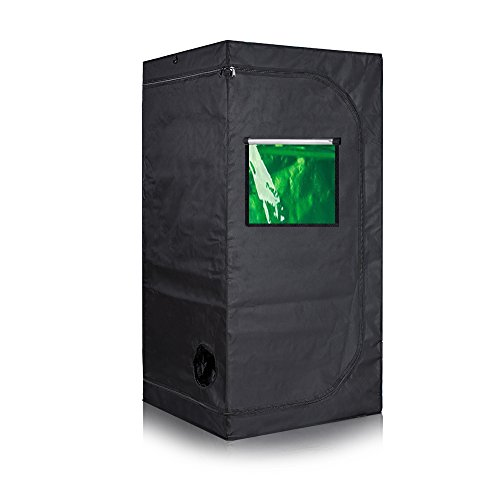 Cheap Oppolite 32″X32″X63″ Hydroponic Grow Tent for Indoor Plant Growing /Green View Window METAL Corners (32″X32″X63″)