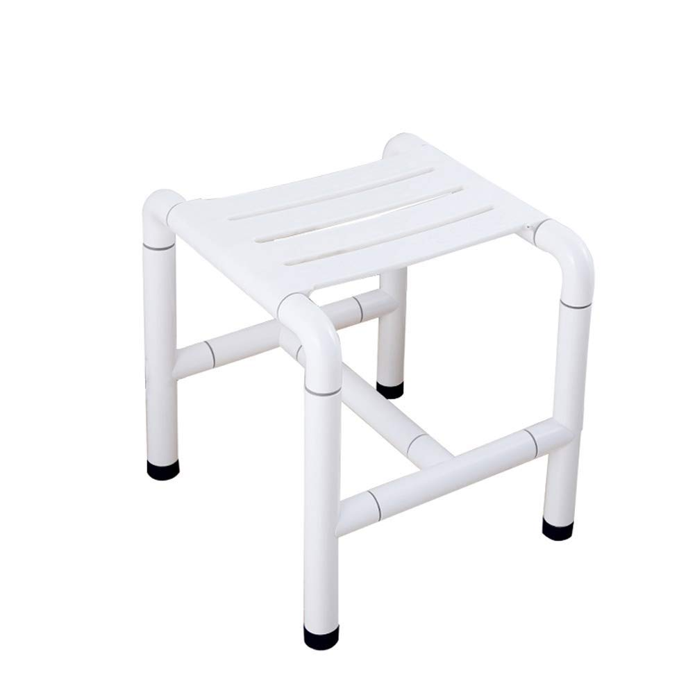 BEAUTY--shower stool ,Lightweight Shower Chair Witn Anti-Slip Foot Bench Bathtub Stool Seat for Elderly Senior Handicap (Color : White)