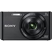 Sony DSCW830 Digital Compact Camera - Black (20.1MP, 8x Optical Zoom) 2.7 inch LCD