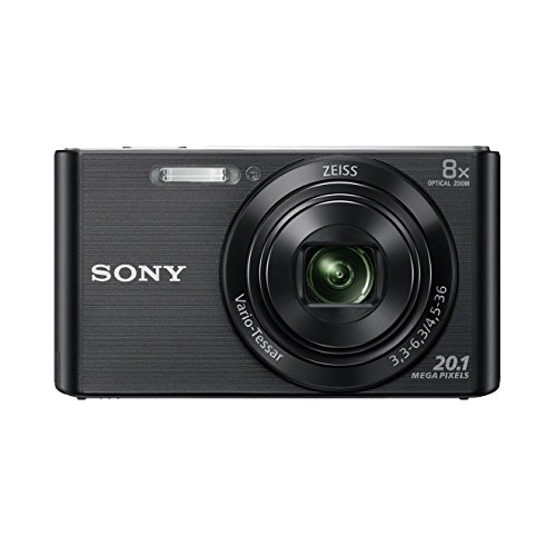 Sony DSCW830 Digital Compact Camera – Black (20.1MP, 8x Optical Zoom) 2.7 inch LCD