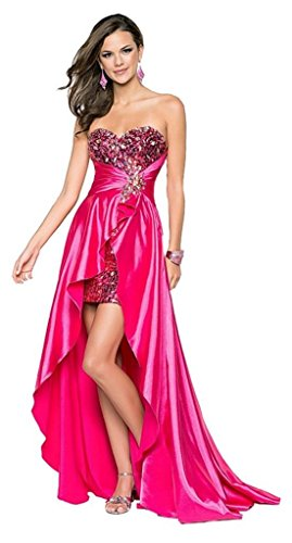 Eyekepper Ladies Beaded Front Short Long Back Prom Evening Gown Party Dress ()