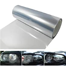 12 by 48 inches Self Adhesive Clear Headlights, Tail Lights, Fog Lights, Sidemarkers Tint Vinyl Film