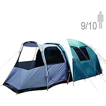 NTK Arizona GT 9 to 10 Person 17.4 by 8 Foot Sport C&ing Tent 100% Waterproof 2500mm  sc 1 st  Amazon.com & Amazon.com : Coleman Octagon 98 Tent 13x13 Feet : Sports u0026 Outdoors