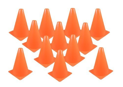 Fun Express Set of 12 Sport Training Traffic Orange Cones Soccer Cone]()