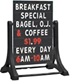 AARCO Products ROC-5 The Rocker™ double sided sidewalk sign with black changeable letterboard