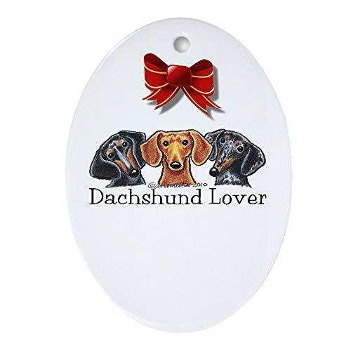 - CafePress Dachshund Lover Ornament (Oval) Oval Holiday Christmas Ornament