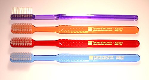 Adult Hard Toothbrush (Toothbrush - Basic, EXTRA SOFT, 4-Pack, Adult - Periodontal, Exfoliation)