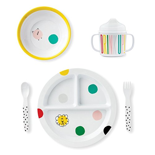 (Kate Spade New York Baby Melamine Dining Set - Hey Baby)