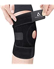 ANOOPSYCHE Knee Brace Support, Open-Patella Knee Support for Men Women, Breathable Non-Slip Knee Stability, Adjustable for Paintball, Joint Pain, Basketball, Running, Volleyball