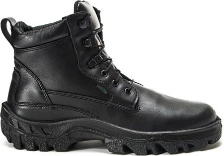 Men's Inch Rocky TMC Leather Black 6 Work Plain Postal Toe I6xxqdaw