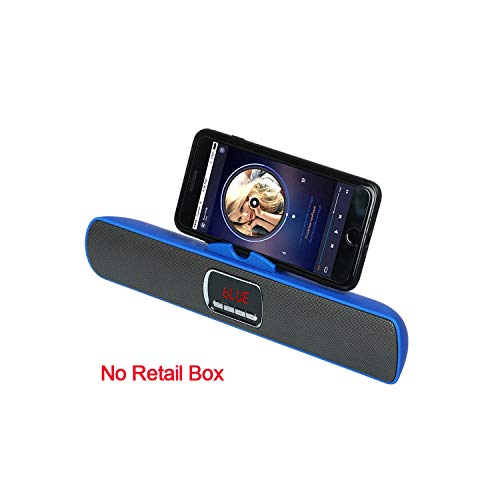 - Portable Wireless Bluetooth Speaker Super Bass Dual Loudspeaker TF FM Radio USB LCD,Blue No Box