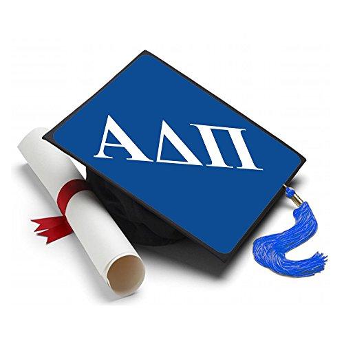 - Alpha Delta Pi Graduation Cap Hat Topper Decoration Fraternity 8.5 x 8.5 Inch ADPi Blue