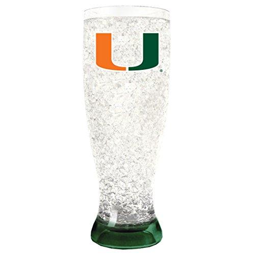 NCAA Miami Hurricanes 16oz Crystal Freezer Pilsner