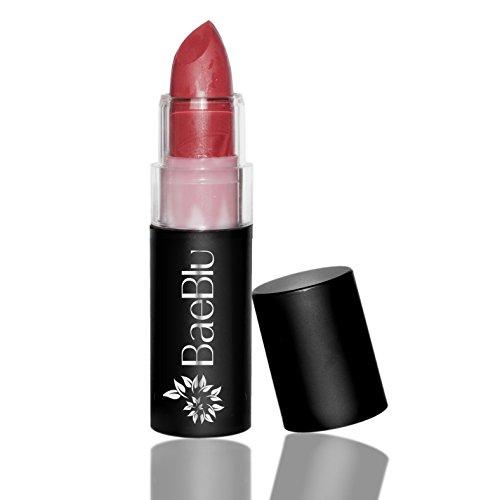 BaeBlu Organic Lipstick 100% Natural Hydrating Antioxidant-Rich, Made in USA, Radiant Rose