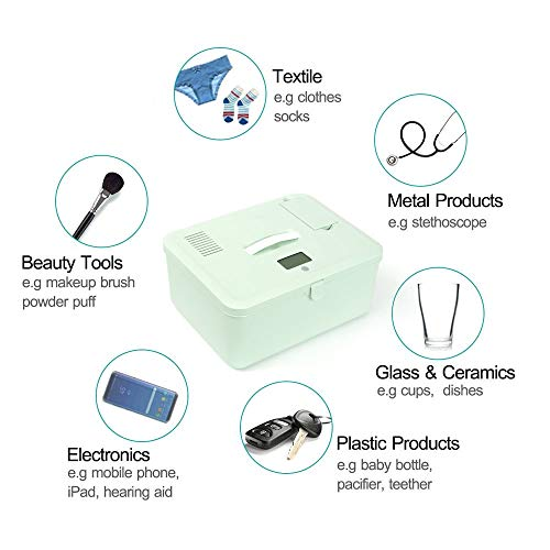 LED U-V C1eaner with Screen Display, U-V Light San1tizer Bag for Toys, Baby Bottle, Jewelry, Beauty Tools, Face Mask, Underwear, 99% Cleaned