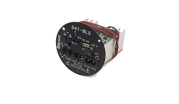 Amazon.com: eDealMax DC 12V Bluetooth Audio estéreo Junta módulo amplificador de potencia Para el coche automático: Car Electronics