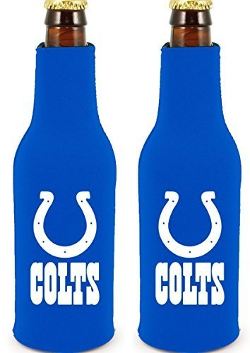 NFL Football 2014 Team Color Logo Bottle Suit Holder Cooler 2-Pack (Indianapolis - Beer Indianapolis Colts