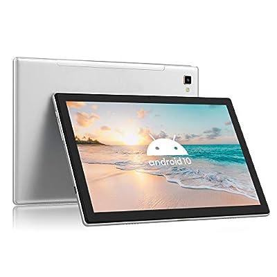 """Blackview Tab8 Tablet 4G LTE + WIFI con 10.1"""" FHD, Android 10, 4GB RAM + 64GB ROM, 128GB Espandibili, Octa-Core, Batteria 6580mAh, Fotocamera 13MP, 1920*1200,Dual SIM/GPS/Bluetooth/Face ID/OTG-Grigio"""