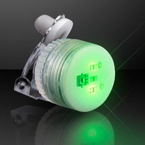 Jade Green Led (Set of 25 Jade Green Blinking LED Clip On Pins)