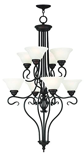 - Livex Lighting 6118-07 Coronado 8 Light Foyer Chandelier, Bronze