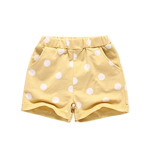 Toddler Girl Summer Fashion Cute Little Girl Casual Comfortable Dot Print Shorts (5, (Doc Mcstuffins Halloween Special)