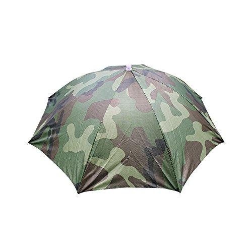 HTDBKDBK Umbrella Cap Foldable Novelty Umbrella Sun Hat Golf Fishing Camping Fancy Dress Multicolor Camouflage -