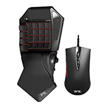 HORI Tactical Assault Commander Pro (TAC Pro) KeyPad and Mouse Controller for PS4 and PS3 FPS Games Officially Licensed by Sony - PlayStation 4