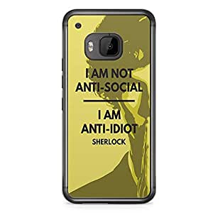 HTC One M9 Transparent Edge Case Sherlock Anti Idiot