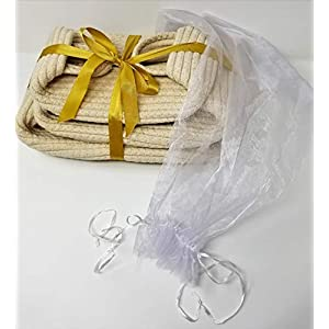 REM Concepts Woven Baskets, Cotton Rope Organizers and Storage Baskets with Handles – Set of 3 in S-M-L Sizes – Tidy Up Any Area – Neutral Color – Fits Any Home Decor!