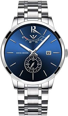 NIBOSI Watches Men's Fashion Watch Luxury Brand Waterproof Full Steel Quartz Analog Watch