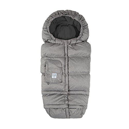 Infant Car Seat Footmuff (7AM Enfant Blanket 212 Evolution, Wind and Water-Resistant, Universal and Versatile Stroller and Car Seat Footmuff, Best for Freezing Winter Conditions (Heather Grey, One Size 0-4T))