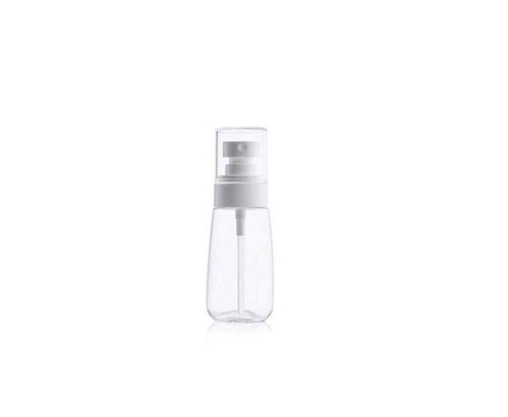 1pcs recargables, caña de plástico spray Botellas con Fine mist-portable upscale transparente cosméticos maquillaje agua pulverizador atomizador de perfume SPARY soporte organizador con blanco pulverizador Elandy