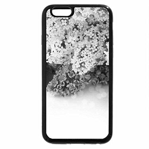 iPhone 6S Case, iPhone 6 Case (Black & White) - Flower