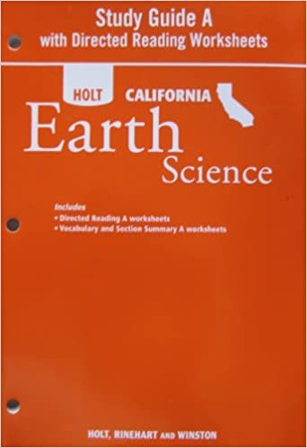 Study Guide A with Directed Readings Worksheet for Holt California ...