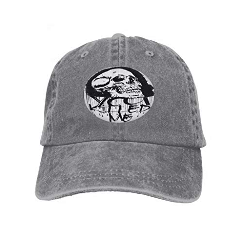 Unisex Jeans Baseball Cap Classic Cotton Dad Hat Adjustable Plain Cap Graphics Skull Print Skull Evil Skull conce Concert Posters Gray