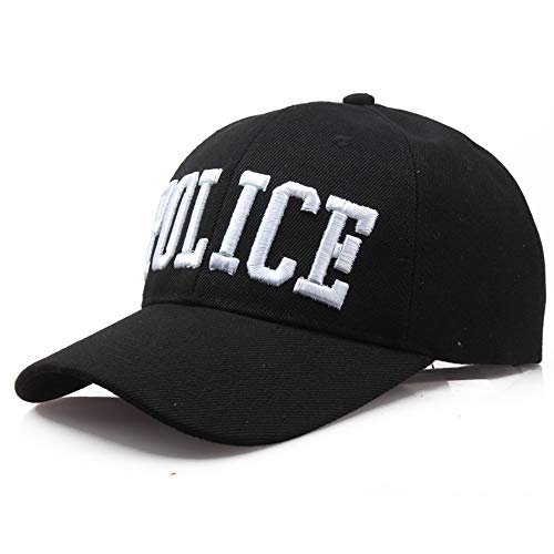 shinyis America US Police Officer Cap Embroidered Baseball Cap Black, 58-60CM