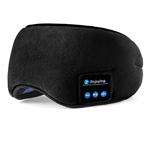 - Bluetooth Sleep Headphones Sleeping Eye Mask, D-MONKEY Wireless Travel Music Headsets Eyes Cover with Built-in Earphones Handsfree Microphone Soft