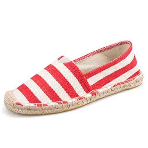 West See Unnisex Sommer Schuhe Slip-on-Sneaker Atmungsaktives mesh-oberfläche Schuhe herren Damen Aquaschuhe Strandschuhe Breathable Schlüpfen # 1 Rot