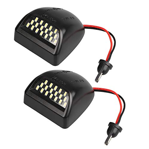 Full LED License Plate Lights Lamp SET Assembly Replacement for Chevy Silverado, Suburban, Tahoe, GMC Sierra, GMC Yukon with 36 LED Plug and Play