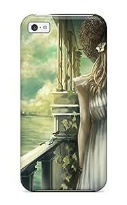 Excellent Design Blondes Dress Blue Straw Hat Wink Hatsornaments Phone Case For Iphone 5c Premium Tpu Case
