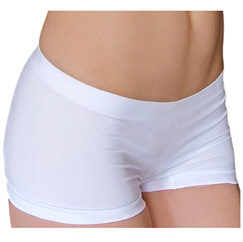 KMystic Seamless Hot Shorts Boy Short One Size (White)