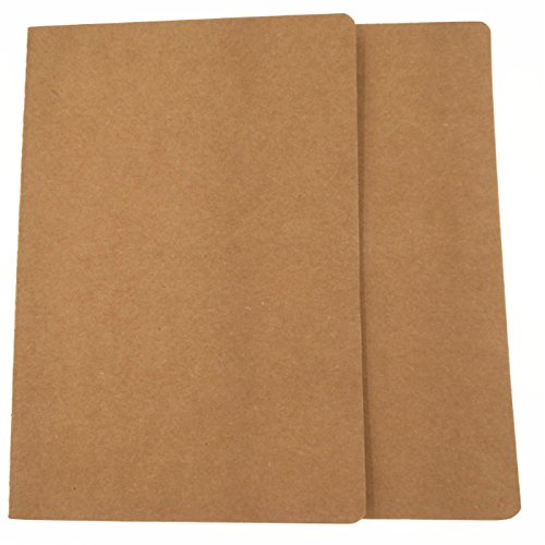 - 20 pcs Travel Blank Notebook Kraft Brown Cover Notebooks A5 Size 21X14CM